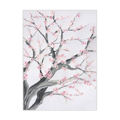 A5 Limited Edition Cherry Blossom Tree Print, Signed by the artist Joanna Perry.