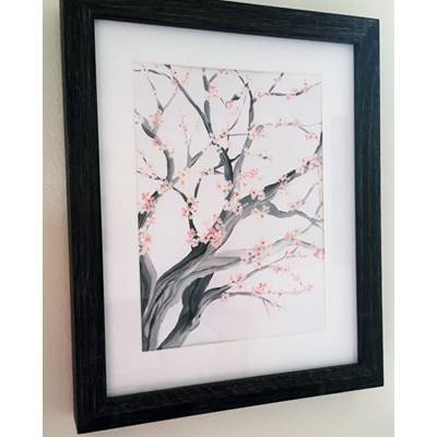 A4 Limited Edition Cherry Blossom Tree Print, Signed by the artist Joanna Perry.